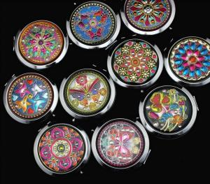 China European style vintage makeup compact mirrors wholesale on sale