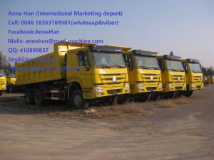 China 50T 20M3 371 HP 12 Wheels Yellow Heavy Duty Dump Truck low fuel consumption Q345 Carbor steel Bucket on sale