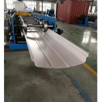 China Adjustable Width Standing Seam Roof Panel Roll Forming Machine With Auto Seamer on sale