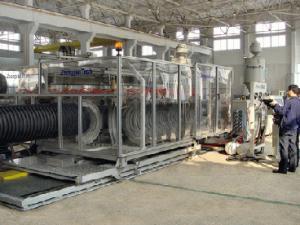 China chaîne de production ondulée de tuyau de pe on sale