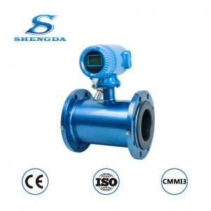 China 24VDC/220VAC 4 inch electromagnetic flow meter with 4-20mA output waste water flow meter sewage flow meter on sale