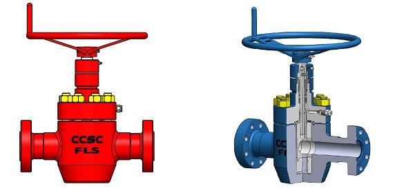 cameron manucal gate valve type 'fls'