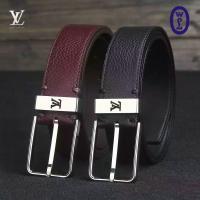 Wholesale LV Men Black Belt Authentic Quality Original Leather with Original Hardware