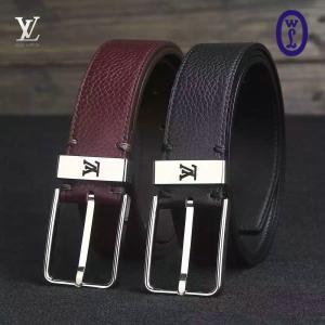 China Wholesale LV Men Black Belt Authentic Quality Original Leather with Original Hardware on sale