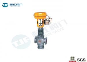 China Pneumatic Three Way Flow Control Valve PN 64 Bar In Diverting / Mixing on sale
