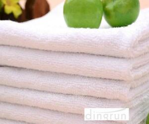China Compact Pure White Hand Towels For Hotel , Soft Touch Hand Wash Cloth Fast Drying on sale