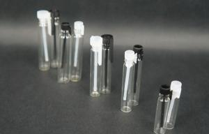 China 1ml perfume sample tube bottle/packing glass bottle/1ml sample glass test vial on sale
