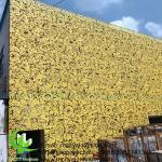 Austrial style aluminium screen metal facade cladding bending sheet 2.5mm thickness for curtain wall facade decoration