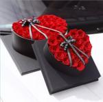 Valentines day best gift 5-6cm preserved rose customized design stabilized rose in heart shape gift box Fresh flower