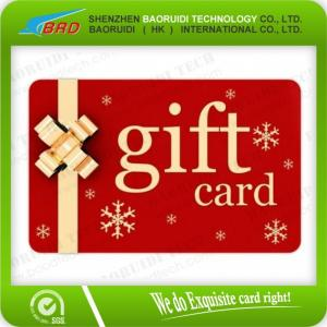 China high quality PVC gift card for supermarket  promotion on sale