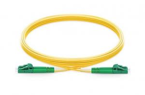 China 9/125 Single Mode LC APC Patch Cord , Fiber Optic Network Cable Low Insertion Loss on sale
