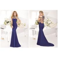 Sleeveless Floor Length Ladies Party Dresses / Sequins Criss Cross Bandage Dress