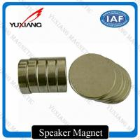 N35 N42 N52 Disc Neodymium Permanent Magnets Nickel Coating For Speaker