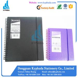 China Hard PP Cover A5 A6 spiral notebook on sale