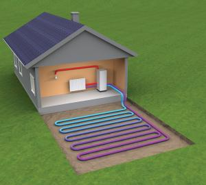 China Flooded type Ground Source Heat Pump, cooling system on sale