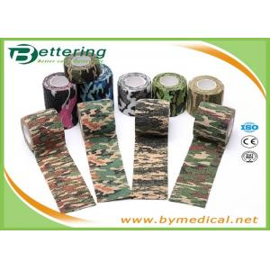 Army Camping Hunting Camouflage Pattern Printing Non Woven Self Adhesive Elastic Bandage