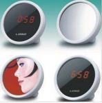 horloge créative du réveil LED du meilleur de la vente LED miroir de réveil