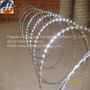 China alambre de púas acordeón de la maquinilla de afeitar del diámetro de la bobina de 450m m on sale