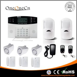 China GSM Wireless Security Alarm System LCD display and  Auto dialer on sale
