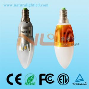 China 3w high power e14 led bulb 3 years warranty 360degree view on sale