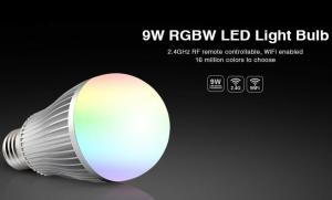China Milight Wifi 9W RGBW LED Light Bulb 2.4G RF remote All color RGBW with IOS APP 4 channel RGBW E27 LED bulb on sale