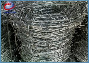 China 500M Galvanized Barbed Wire Roll Barbed Wire 2 Strands 4 Barbs Type on sale
