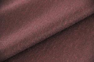 China Worested Texture Craft Burgundy Wool Twill Fabric For Dress 600 G / M on sale