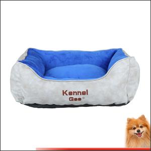 China big dog beds for sale artificial leather and short plush pp cotton pet bed china factory on sale