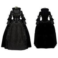 Medieval Dress Wholesale XXS to XXXL Black Gothic Renaissance Medieval Evening Party Dress Cosplay