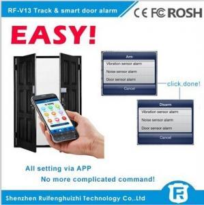 China Wireless touch sensor door handle alarm gsm smart door alarm rf-v13 on sale
