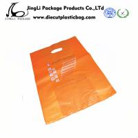 China Orange Die cut Plastic bag degradable plastic Bags for advertising on sale