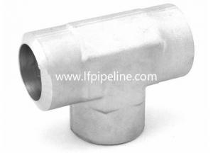 China welded stainless steel pipe fittings tube socket weld union tee on sale