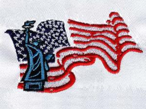 China Embroidery digitising NY USA FLAG WEC9A01 on sale