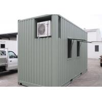 20ft Prebuilt Refugee Housing Unit , Air Conditional Shipping Containers Homes