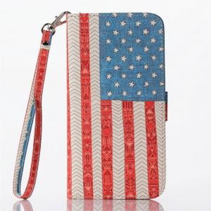 China USA Flag Pattern Cell Phone Case With Credit Card Slot For Iphone 6 Plus(5.5) on sale