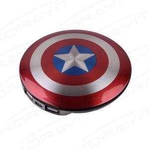 China American Captain Shield 6800mAh Portable Power Bank, Universal Mobile Charger UFO Shape on sale