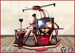 Coin Operated VR Standing Platform  / Theme Park Electric VR 9D Simulator