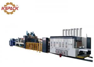 China Fast Corrugated Box Printing Machine , Glue Flexo Printer Slotter Die Cutter on sale