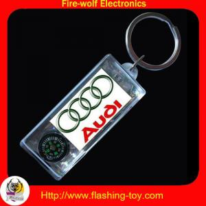 China Flashing Toy solar transparent plastic + LCD + PC Logo Keychain manufacturer & Suppliers on sale