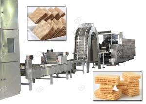 China Gas Heating Wafer Biscuit Production Line , Wafer Snack Biscuits Making Machine 110 Kg / H on sale