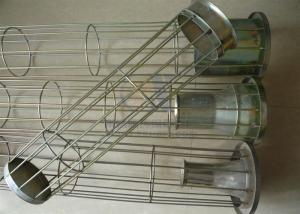 China Dust / Liquid Filter Bag Cage Industrial Steel Dust Collector Cages on sale