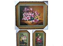 China Flower Framed Canvas on sale