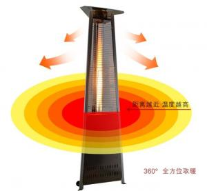China Rock Crystal Tube Triangle Patio Heater For Garden 1.5mm Nozzle 540g/Hr Flux on sale