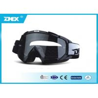 China Anti - fog Black TPU Frame PC Lens Motorcycle Goggles Glasses For Adults on sale