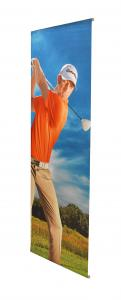 China L Shape Roll Out Banner Stands , Easy Carry Stand Up Advertising Banners on sale
