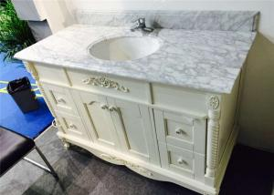 China Angel White 40 Inch Bathroom Vanity With Top , Bathroom Sink And Cabinet on sale