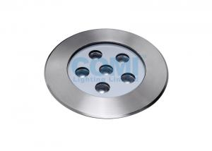 China 6 * 2W LED Underground Floor Light with Remote LED Driver , High Power LED In Ground Spotlights on sale