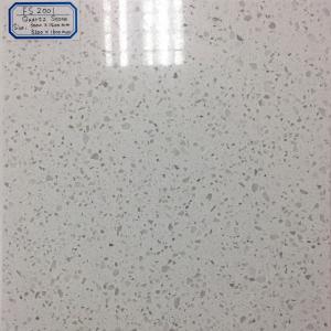 China Fengshuo polished white sparkle quartz countertop artificial quartz slab on sale