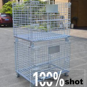 China OEM Customized Welded Steel Foldable Wire Mesh Cage For Warehouse Storage on sale