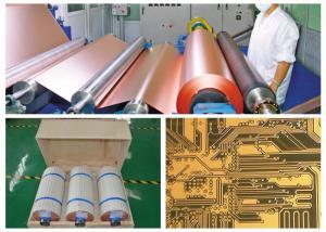 China 1 / 2 OZ 17um PCB Copper Foil High Temperature Elongation Gray Color on sale